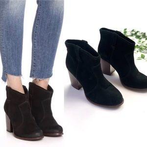 Splendid Lakota Black Suede Leather Ankle Boots